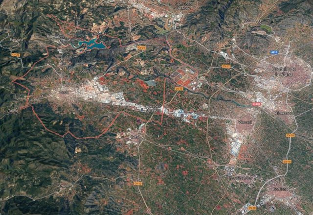 Localización de Onda (Castellón)