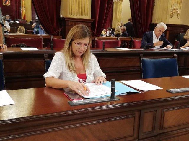 La consellera de Salud, Patricia Gómez, en el Parlament.