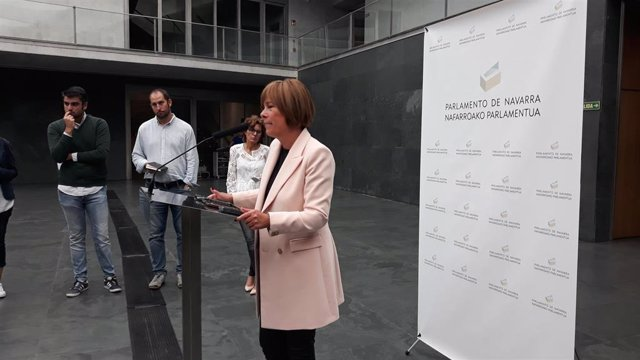 La portavoz de Geroa Bai en el Parlamento de Navarra, Uxue Barkos.