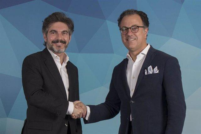 Xavier Gangonells (AED) y Antonio Lasaga (Airbus)