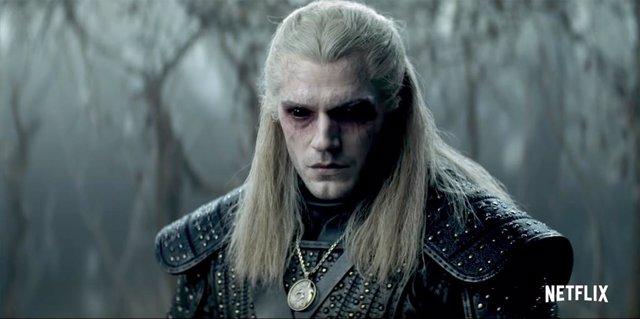 Henry Cavill como Geralt de Rivia en la serie The Witcher