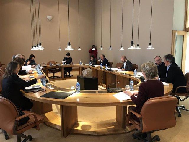 Reunión de la Xunta de Portavoces del Parlamento de Galicia