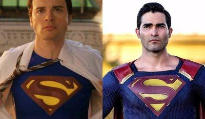 Tom Welling y Tyler Hoechlin, dos Superman juntos en el rodaje de Crisis en Tierras Infinitas