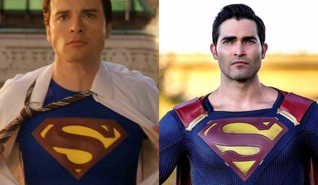 Los Supermán de Crisis en Tierras Infinitas