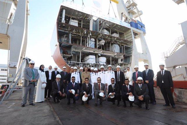 Acto de puesta de la quilla de la primera corbeta para Arabia