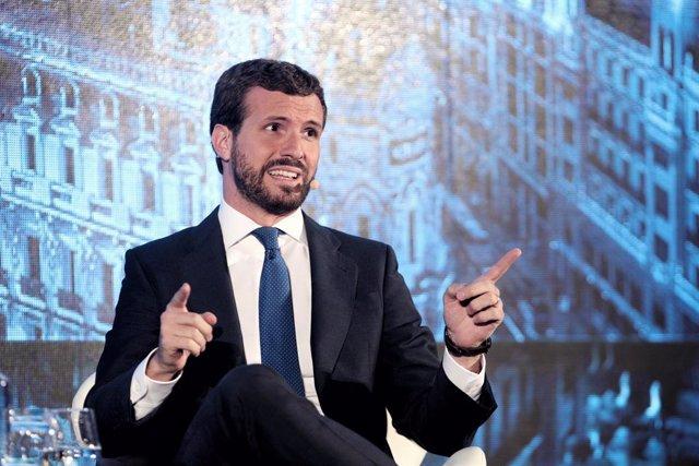 El president del PP, Pablo Casado, Madrid (Espanya), 1 d'octubre del 2019.