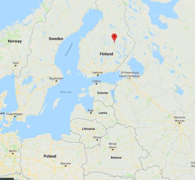 Situació de Kuopio, la localitat de l'est de Finlàndia en la qual s'ha registrat un incident violent en un centre de Formació Professional
