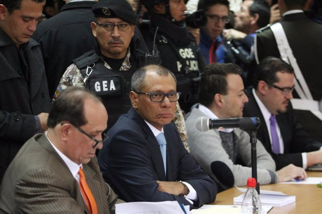 El ex vicepresidente Jorge Glas