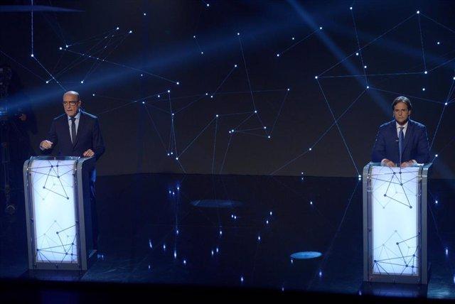 Los candidatos a la Presidencia de Uruguay por el Frente Amplio, Daniel Martínez y el Partido Nacional, Luis Lacalle Pou