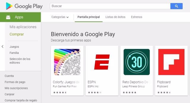 Tienda de aplicaciones de Google