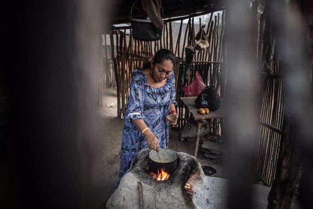 Jaqueline Romero, defensora de derechos humanos, territoriales y ambientales de la región de la Guajira colombiana de la Organización Fuerza de Mujeres Wayú