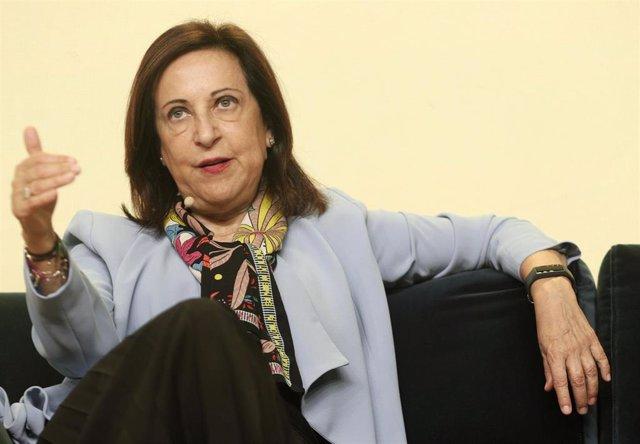 La ministra de Defensa en funciones, Margarita Robles, durante su intervención en el 'Forbes Summit Women 2019', el cual busca promover la igualdad y empoderamiento femenino, en Madrid (España), a 2 de octubre de 2019.