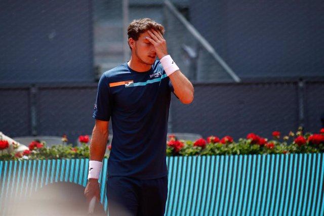Pablo Carreño se lamenta por un punto perdido.