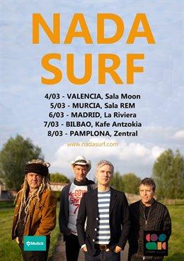 Nada Surf tocarán en salas de Valencia, Murcia, Madrid, Bilbao y Pamplona en mar