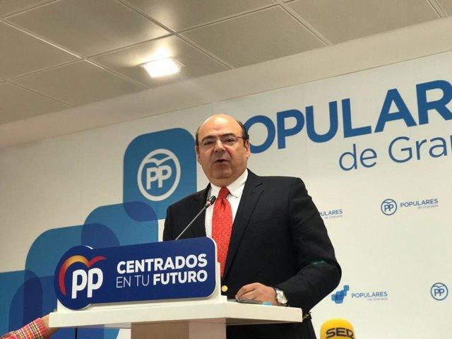 El candidato del PP a la Alcaldía de Granada, Sebastián Pérez, en imagen de archivo