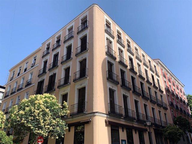 Imagen del edificio de la calle San Andrés de Madrid adquirido por Vbare.