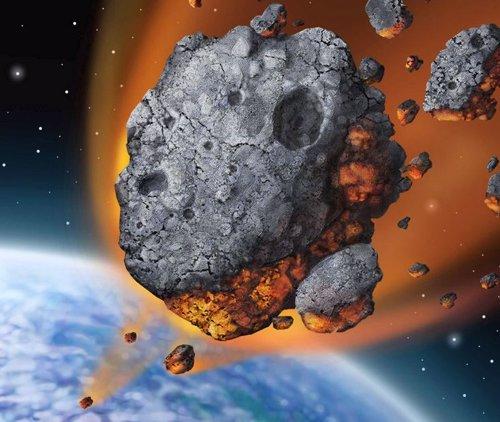 Asteroide impactando contra la Tierra