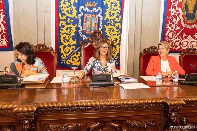 Pleno Ordinario del Ayuntamiento de Cartagena con Castejón y Arroyo al frente