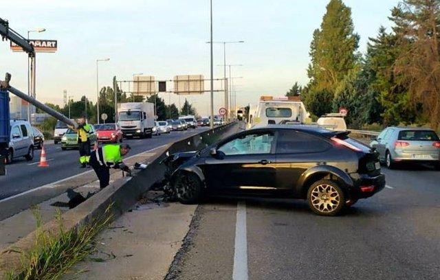 Vehículo implicado en el accidente.