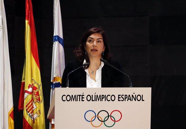 La presidenta del CSD, María José Rienda, en el COE
