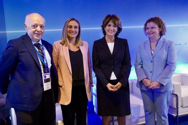 La ministra de Justicia, Dolores Delgado, en la inauguración del V Congreso Nacional de Registradores de España