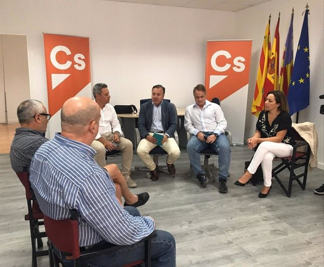 El diputado Joan Mesquida (Cs) durante una reunión en Ibiza