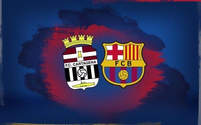 Imagen promocional del partido entre Cartagena y FC Barcelona el 13 de noviembre