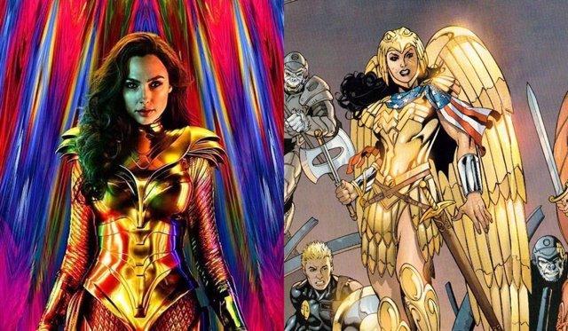 La armadura con alas de Wonder Woman