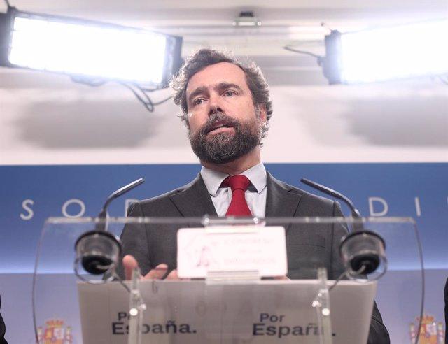 El portaveu de Vox al Congrés, Iván Espinosa dels Monteros.