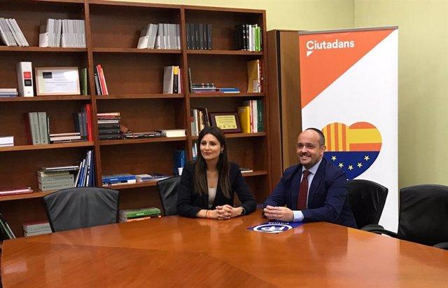 Lorena Roldan (Cs) i Alejandro Fernández (PP)