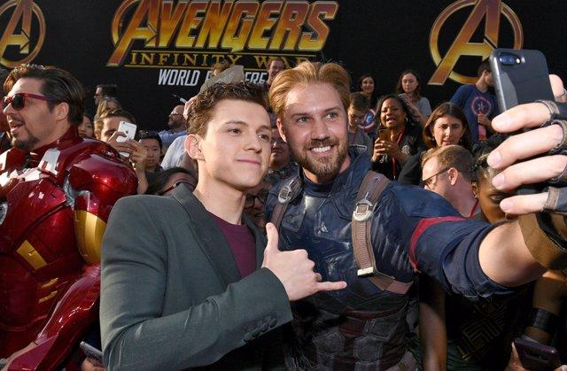Tom Holland en la premiere de Vengadores: Infinity War