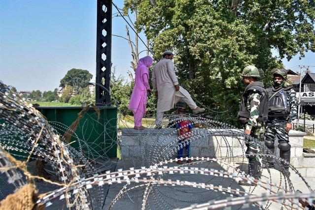 Militares indios en la Cachemira controlada por las autoridades de Nueva Delhi