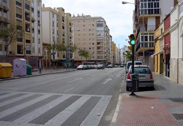 Calle Eugenio Gross prolongación línea 2 del metro hacia Hospital Civil en una imagen de archivo