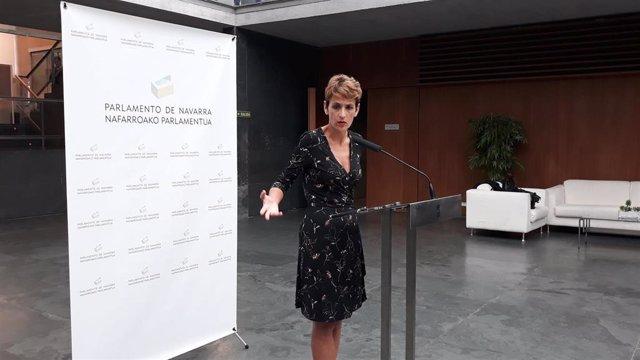 La presidenta de Navarra, María Chivite.