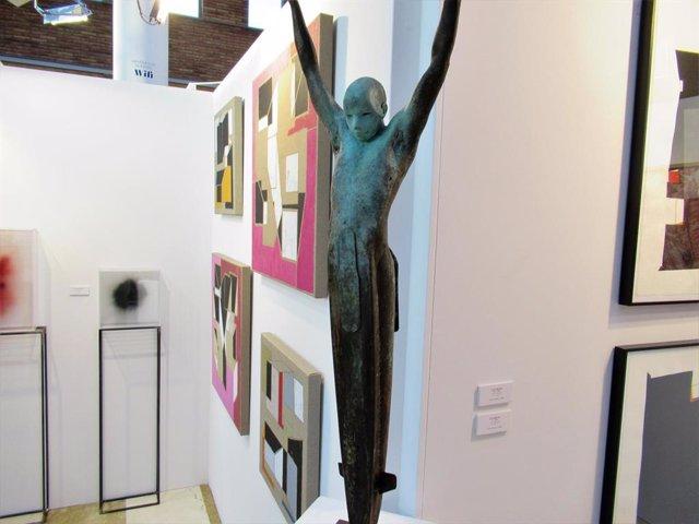 Obras de la exposición FLECHA insugurada en Artea
