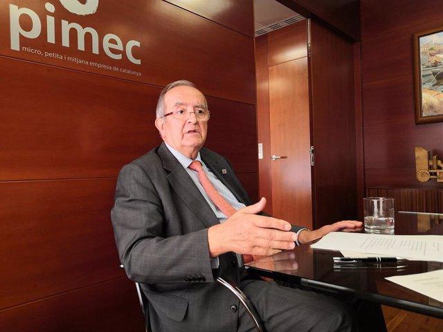 El president de Pimec, Josep González, en una foto d'arxiu