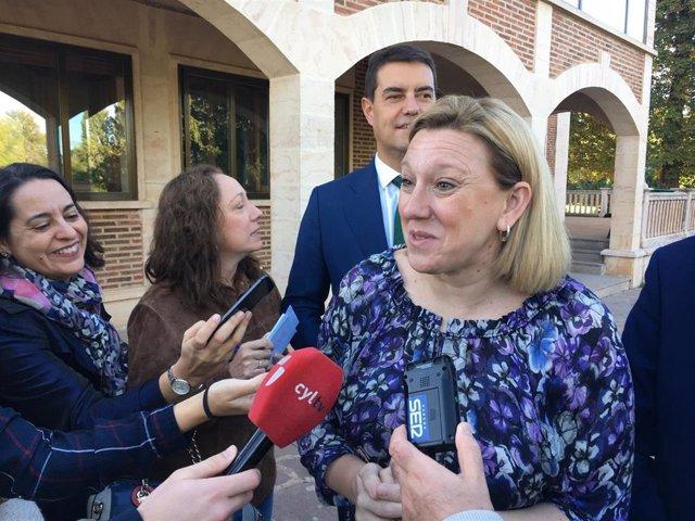 La consejera de Familia, Isabel Blanco Llamas, en Burgos