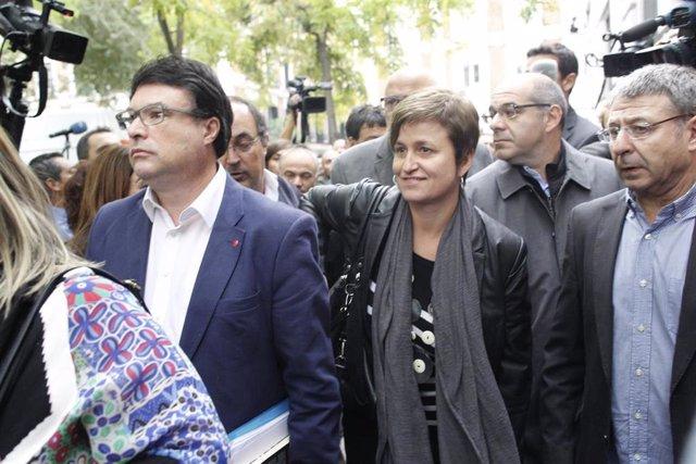 Joan Josep Nuet y Anna Simó, exmiembros de la Mesa del Parlament, acuden al Tribunal Supremo