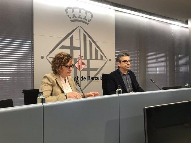 Els regidors Monsterrat Ballarín (PSC) i Jordi Martí (BComú)