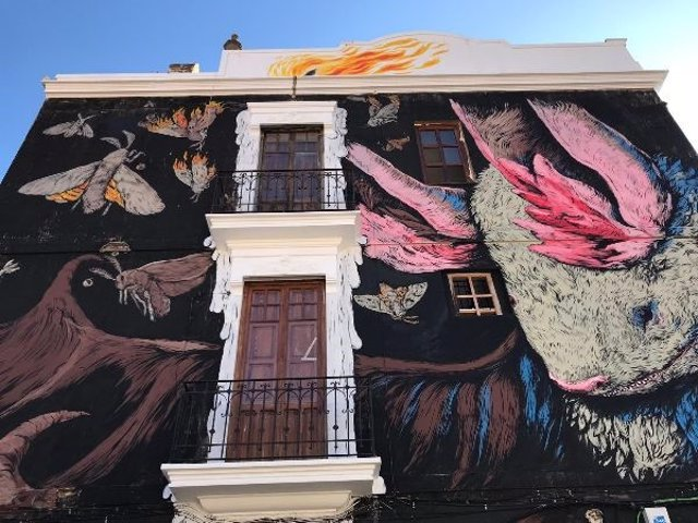 Mural realizado en VLC Urban Festival Barris en Moviment