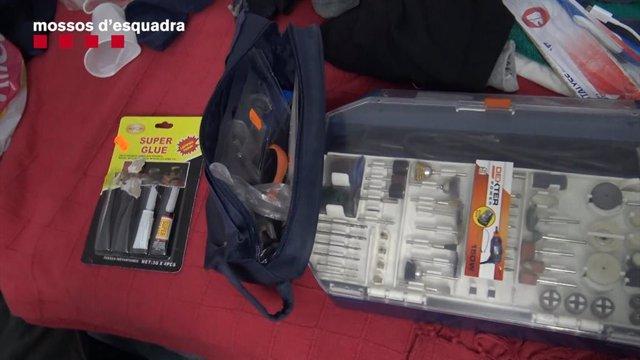 Material que feien servir per al mètode del robatori amb marcadors