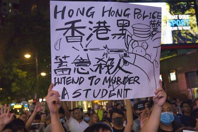 Protestas contra la Policía en Hong Kong