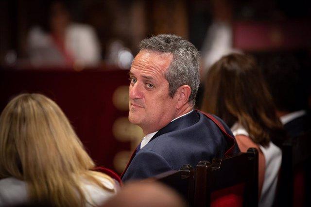 Quim Forn en la rebuda del president de la Generalitat de Catalunya, Quim Torra, als nous regidors de l'Ajuntament de Barcelona