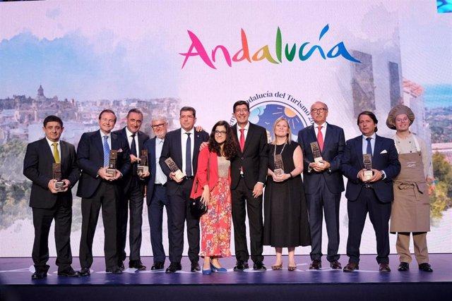 Galardonados en los premios Andalucía de Turismo