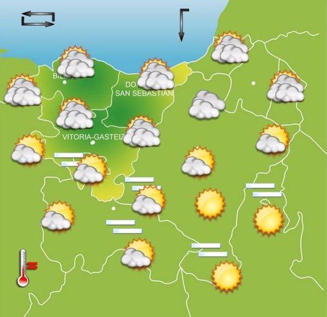 Previsiones meteorológicas para el 5 de octubre en Euskadi.
