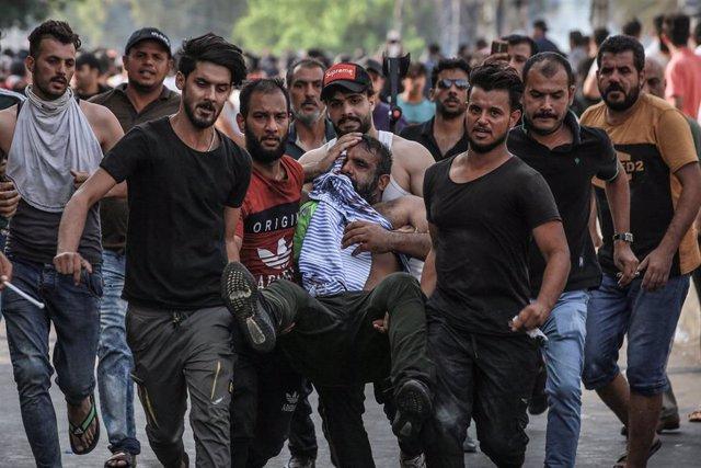 Protestas contra el Gobierno de Irak