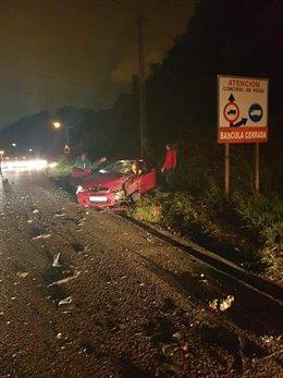 Accidente en Carrero con dos heridos leves