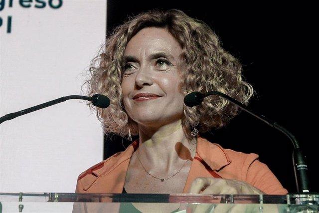 La presidenta del Congreso de los Diputados, Meritxell Batet, interviene en la inauguración del III Congreso Empresarial Alianza Iberoamérica (CEAPI), en el Palacio Duques de Pastrana, en Madrid a 30 de septiembre de 2019