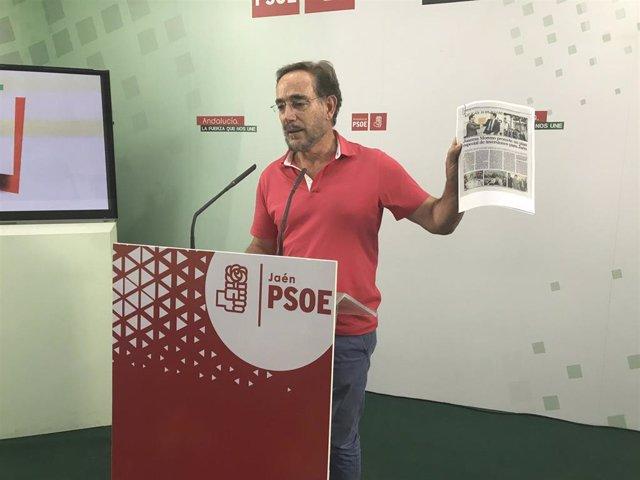 Felipe López en rueda de prensa en una imagen de archivo