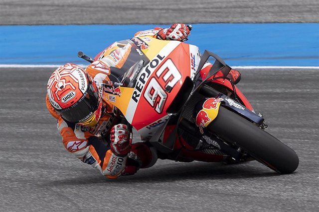 El piloto español de MotoGP Marc Márquez (Repsol Honda) en el GP Tailandia 2019